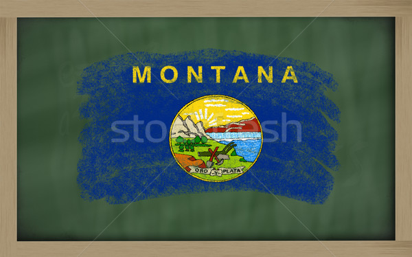 Bandiera Montana lavagna verniciato gesso americano Foto d'archivio © vepar5