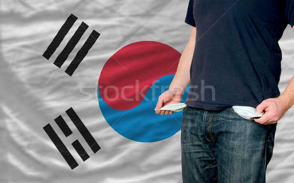 recession impact on young man and society in south korea Stock photo © vepar5