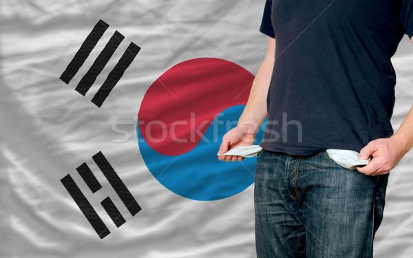 рецессия молодым человеком общество Южная Корея бедные человека Сток-фото © vepar5