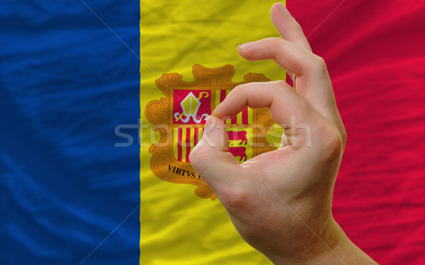 ok gesture in front of andorra national flag Stock photo © vepar5
