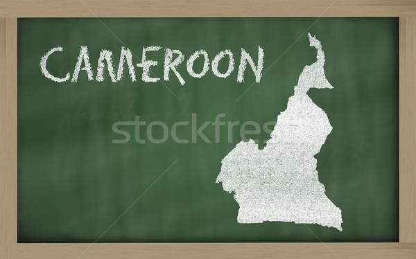 Mapa Camarões lousa desenho Foto stock © vepar5