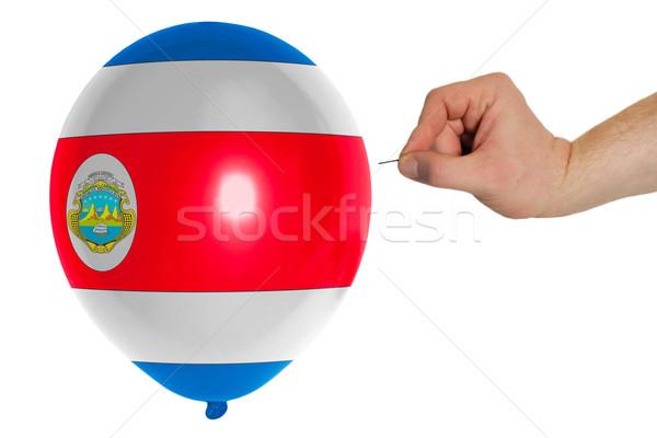 Bursting balloon colored in  national flag of costarica    Stock photo © vepar5