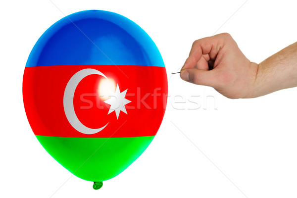 Bursting balloon colored in  national flag of azerbaijan    Stock photo © vepar5