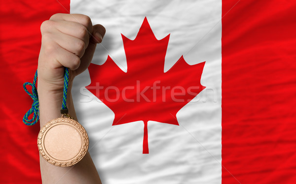Bronze medal for sport and  national flag of canada     Stock photo © vepar5