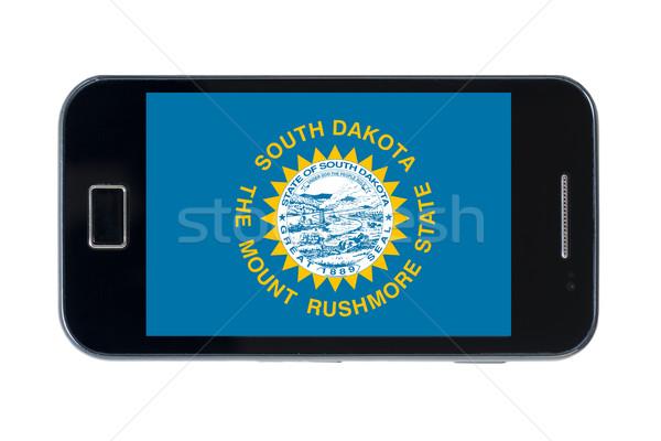 Smartphone vlag South Dakota telefoon telefoon mobiele Stockfoto © vepar5