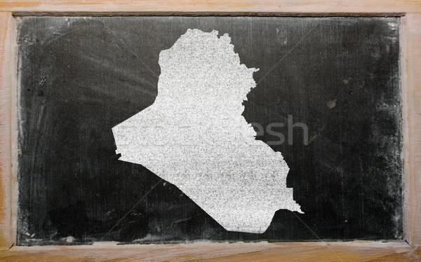 Harita Irak tahta çizim Stok fotoğraf © vepar5