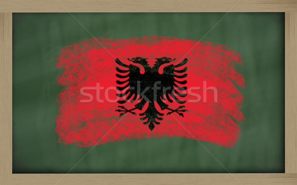 national flag of albania on blackboard painted with chalk Stock photo © vepar5