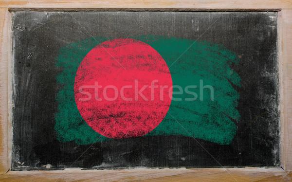 Zászló Banglades iskolatábla festett kréta szín Stock fotó © vepar5