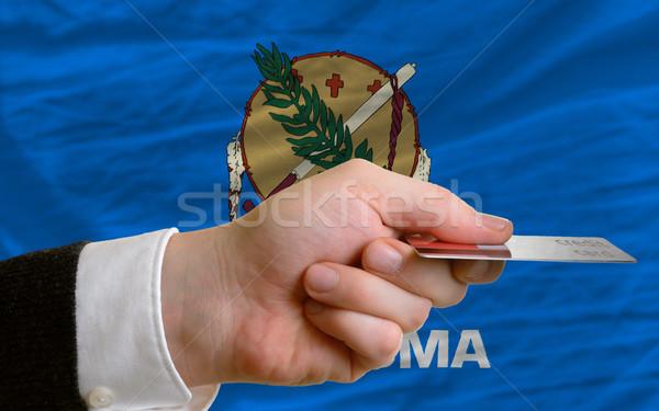Achat carte de crédit Oklahoma homme sur Photo stock © vepar5
