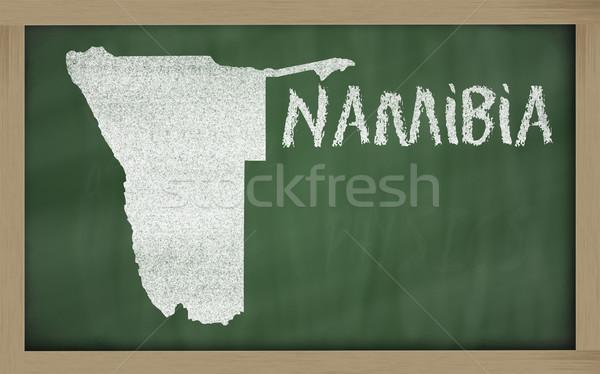 карта Намибия доске рисунок Сток-фото © vepar5