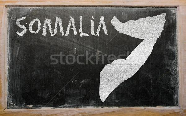 Pokaż Somali tablicy rysunek Zdjęcia stock © vepar5