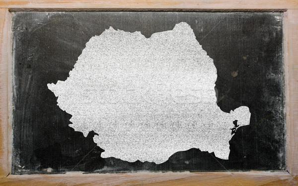 Schets kaart Roemenië Blackboard tekening schoolbord Stockfoto © vepar5
