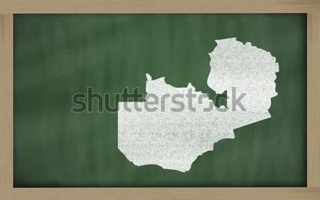 Skicc térkép Virginia iskolatábla rajz tábla Stock fotó © vepar5