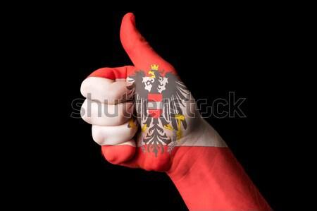 Oostenrijk vlag duim omhoog gebaar uitmuntendheid Stockfoto © vepar5