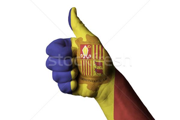 Andorra bandiera pollice up gesto eccellenza Foto d'archivio © vepar5
