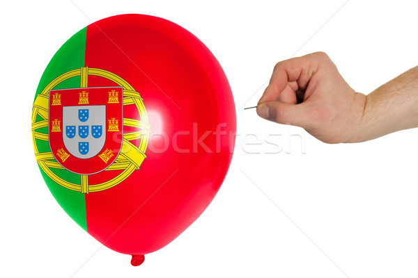 Bursting balloon colored in  national flag of portugal    Stock photo © vepar5