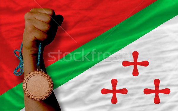 Bronze medalha esportes bandeira esportes Foto stock © vepar5