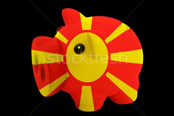 Ricca banca colori bandiera Macedonia Foto d'archivio © vepar5