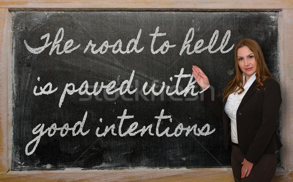 Professor estrada inferno bom bem sucedido Foto stock © vepar5