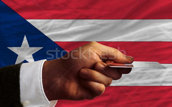 Kopen creditcard Puerto Rico man uit Stockfoto © vepar5