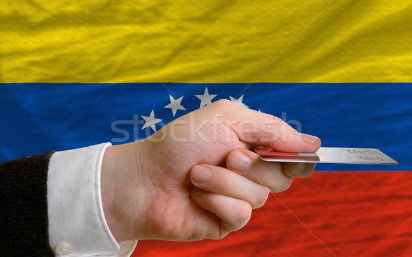 Compra cartão de crédito Venezuela homem fora Foto stock © vepar5