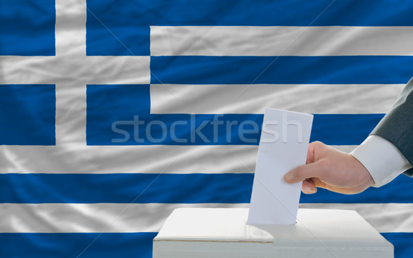 man voting on elections in greece Stock photo © vepar5