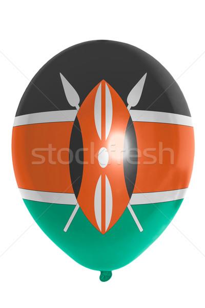 Ballon pavillon Kenya heureux Voyage Photo stock © vepar5