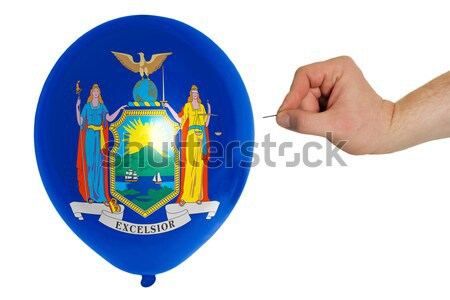 Bursting balloon colored in  flag of american state of michigan  Stock photo © vepar5