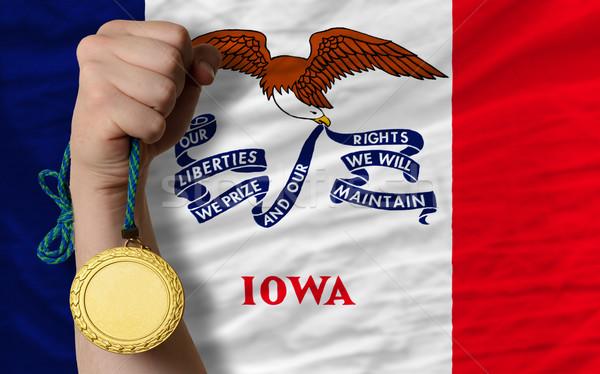 Aranyérem sport zászló amerikai Iowa nyertes Stock fotó © vepar5