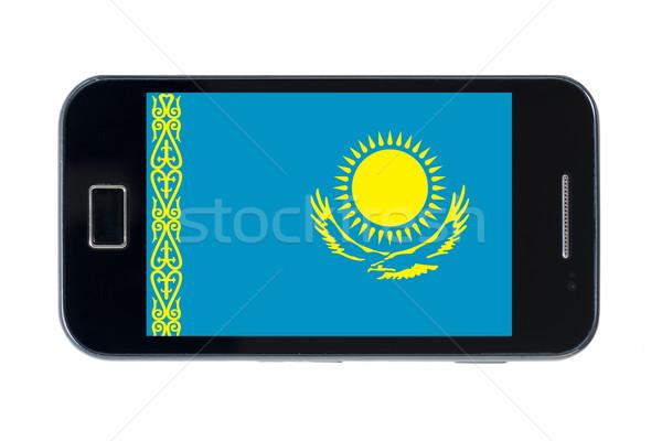 смартфон флаг Казахстан телефон телефон знак Сток-фото © vepar5