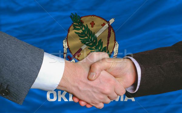 американский флаг Оклахома два бизнесменов стороны Сток-фото © vepar5