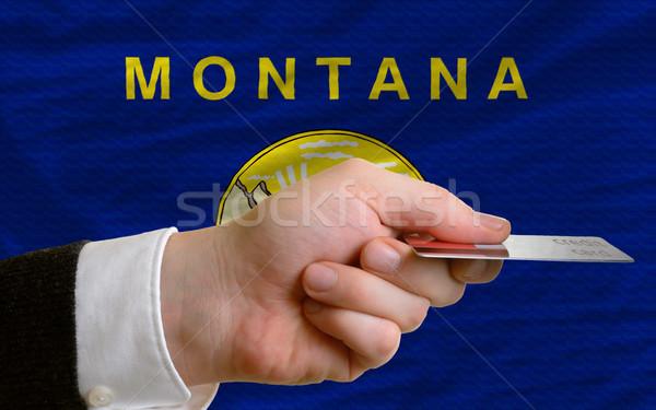 Acquisto carta di credito Montana uomo fuori Foto d'archivio © vepar5
