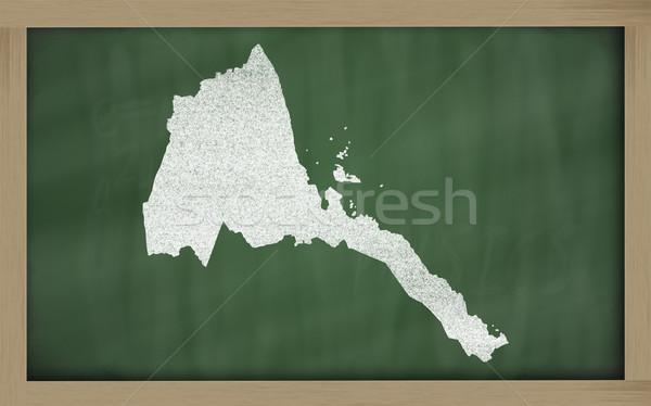 карта Эритрея доске рисунок Сток-фото © vepar5