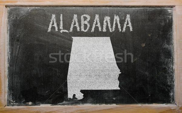 outline map of us state of alabama on blackboard  Stock photo © vepar5