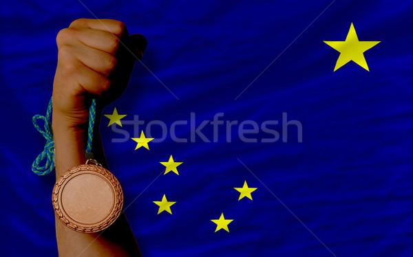 бронзовый медаль спорт флаг американский Аляска Сток-фото © vepar5