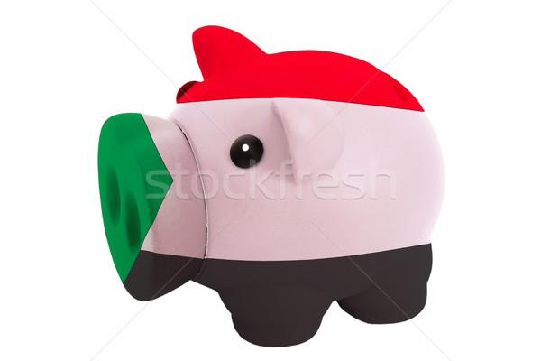 Rijke bank kleuren vlag Soedan Stockfoto © vepar5