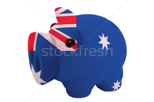 Rijke bank kleuren vlag Australië Stockfoto © vepar5