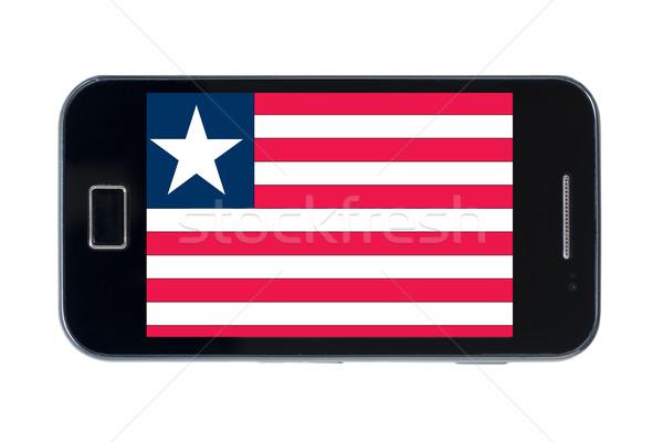 smartphone national flag of liberia    Stock photo © vepar5