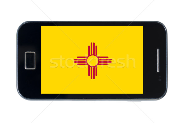 smartphone flag of american state of new mexico    Stock photo © vepar5