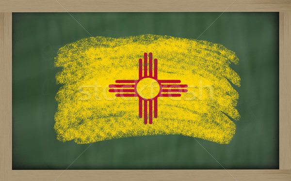 flag of us state of new mexico on blackboard painted with chalk Stock photo © vepar5