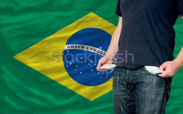 recession impact on young man and society in brazil Stock photo © vepar5