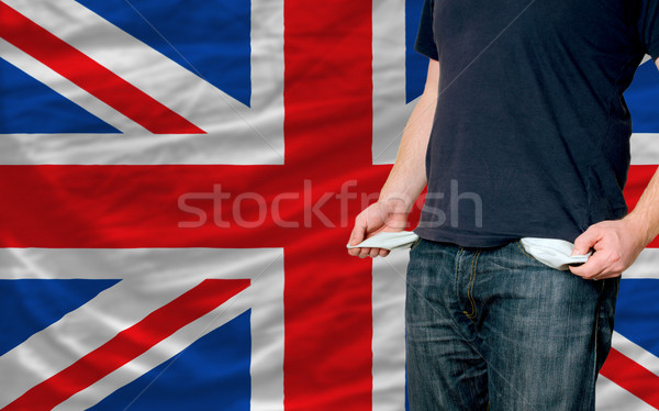 recession impact on young man and society in united kingdom Stock photo © vepar5