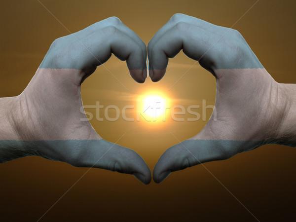 Coração amor gesto mãos Argentina Foto stock © vepar5