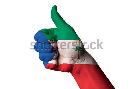 bulgaria national flag thumb up gesture for excellence and achie Stock photo © vepar5