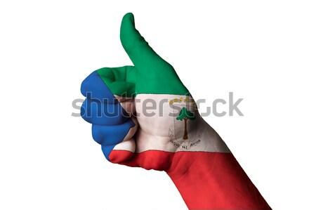 Bułgaria banderą kciuk w górę gest doskonałość Zdjęcia stock © vepar5