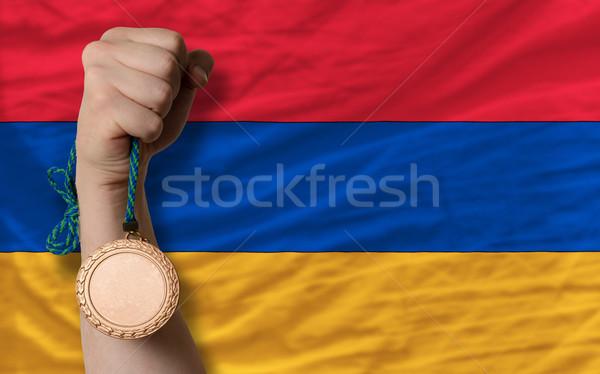 Bronze medalha esportes bandeira Armênia Foto stock © vepar5