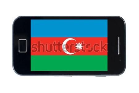 Smartphone banderą Paragwaj telefonu telefon komórkowych Zdjęcia stock © vepar5