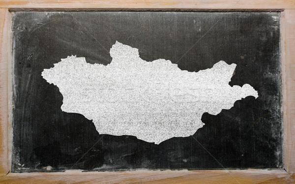 Schets kaart Mongolië Blackboard tekening Stockfoto © vepar5