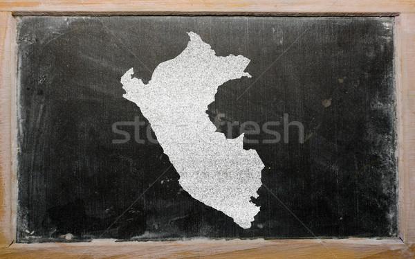 地図 ペルー 黒板 図面 ストックフォト © vepar5