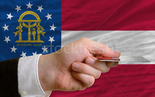 buying with credit card in us state of georgia Stock photo © vepar5